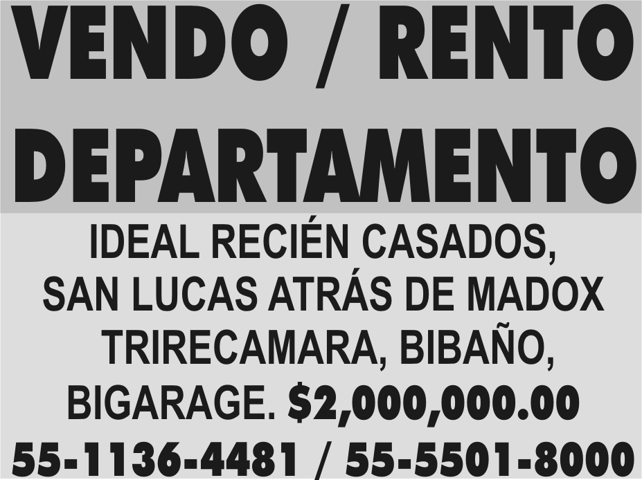 VENDO / RENTO